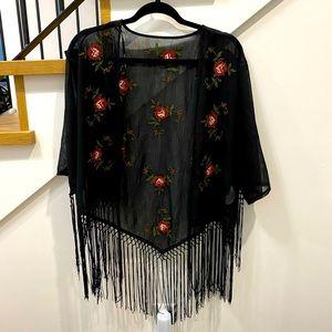 Black Sheer Kimono
